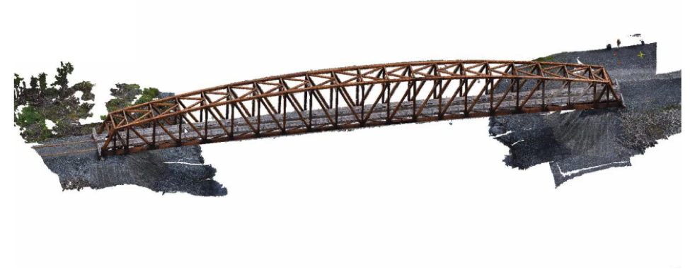 Recreated 3D model of the Place River Bridge – A case study done by the George Manson University research team
