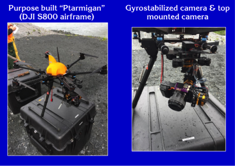 UAV and recording device used during the case study